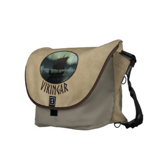 Viking Ship And Northern Lights Courier Bags