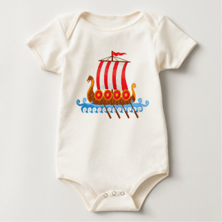 Viking Ship Baby Bodysuit
