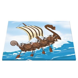 Viking Ship Gallery Wrap Canvas