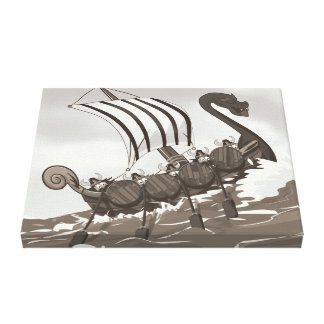 Viking Ship Canvas Prints