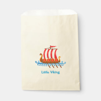 Viking Ship Cartoon Illustration Favour Bags