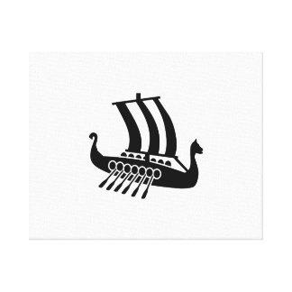 Viking ship gallery wrap canvas