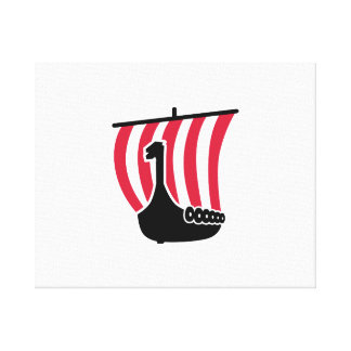 Viking ship gallery wrapped canvas