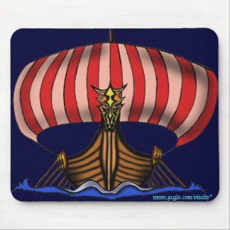 Viking ship mousepad design