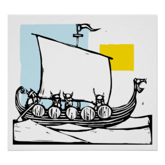 Viking Ship Posters