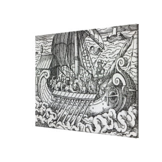 Viking Ship Stretched Canvas Print