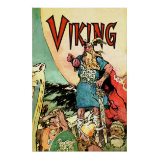 Viking Ship Thor Norseman Warriors Norse Posters