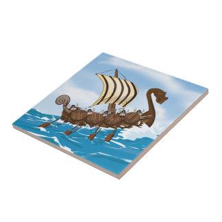 Viking Ship Ceramic Tiles
