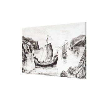 Viking Ships Gallery Wrap Canvas