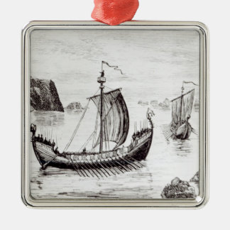 Viking Ships Christmas Ornament