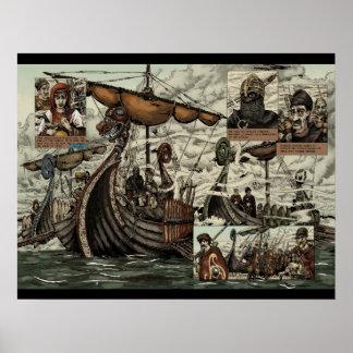 Viking ships poster