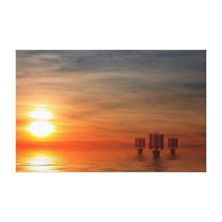 Viking Ships Stretched Canvas Prints