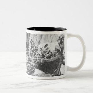 Viking Ships Two-Tone Coffee Mug