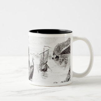 Viking Ships Two-Tone Coffee Mug