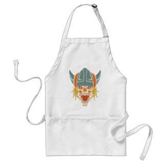 VIKING skull custom apron - choose style, color