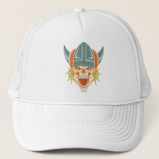 VIKING skull custom hat, choose color Trucker Hat