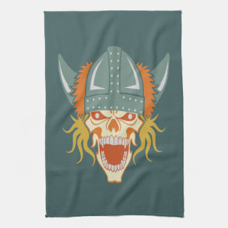 VIKING skull custom kitchen towel