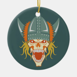 VIKING skull custom ornament
