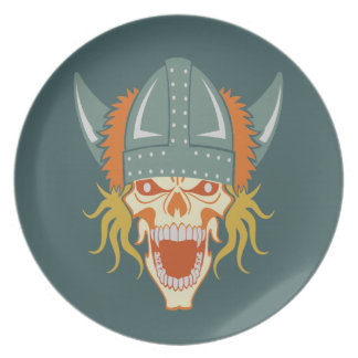 VIKING skull custom plate
