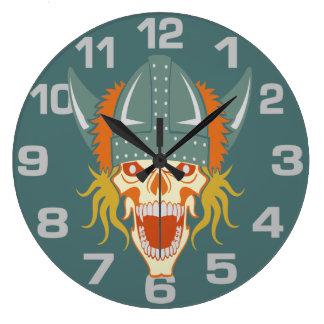VIKING skull custom wall clock