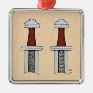 Viking Sword Pattern Welding Ornament