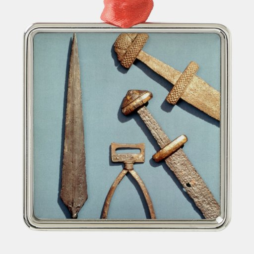 Viking swords, stirrup and spearhead christmas ornament