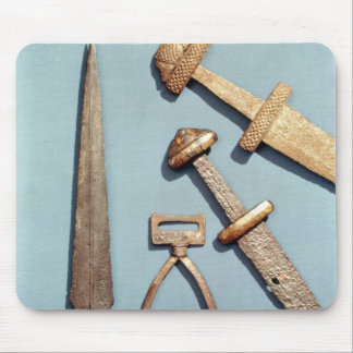 Viking swords, stirrup and spearhead mouse mat