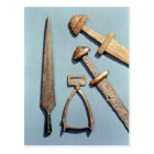 Viking swords, stirrup and spearhead postcard