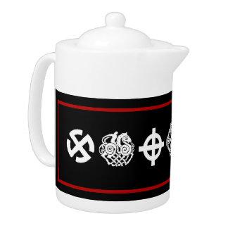 Viking Symbols Teapot