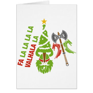 Viking Valhalla Christmas Holiday Card