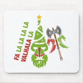 Viking Valhalla Christmas Holiday Mouse Mat