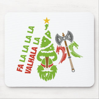 Viking Valhalla Christmas Holiday Mouse Pad