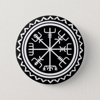 Viking Vegvisir Nautical Compass 6 Cm Round Badge