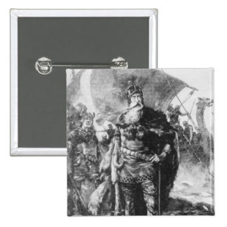 Viking Warrior 15 Cm Square Badge