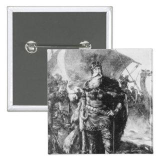 Viking Warrior 15 Cm Square Badge