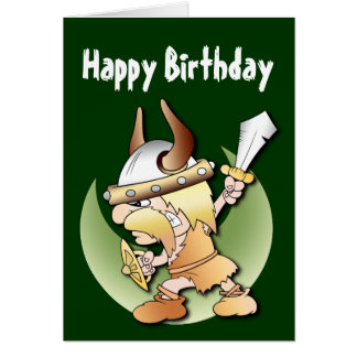 Viking Warrior Birthday Card