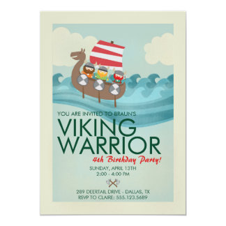 Viking Warrior Birthday Invitation