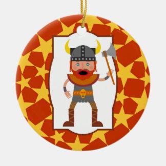 Viking Warrior Boy Birthday Party Christmas Ornament