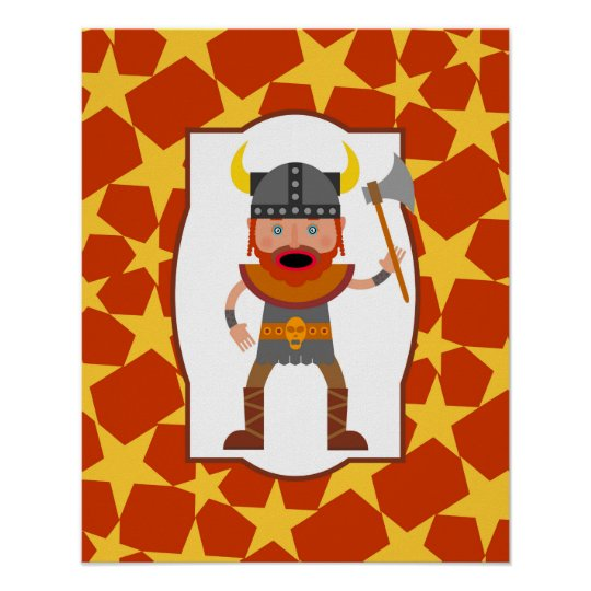 Viking Warrior Boy Birthday Party Poster