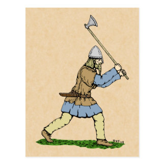 Viking Wielding Broad-Axe Postcard