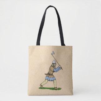 Viking Wielding Broad-Axe Tote Bag