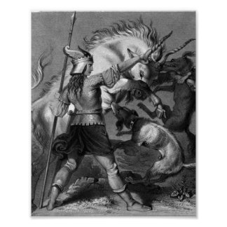 Viking Woman with Spear and Winged Helmet Print