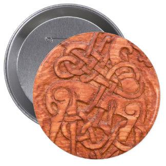 Viking wood carving pin