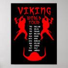Viking World Tour Poster Sign