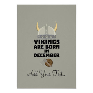 Vikings are born in December Zzun4 Card