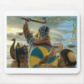 Vikings Attacking Lindisfarne Priory Mouse Mat
