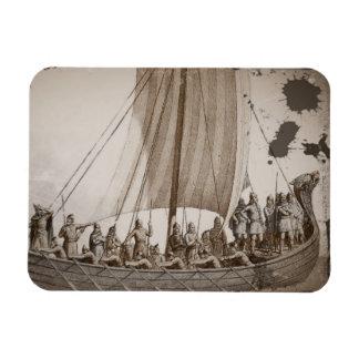 Vikings in a Longboat Rectangular Magnets