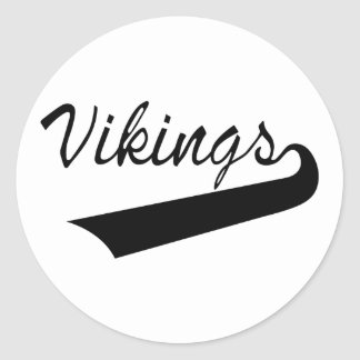 Vikings Round Sticker