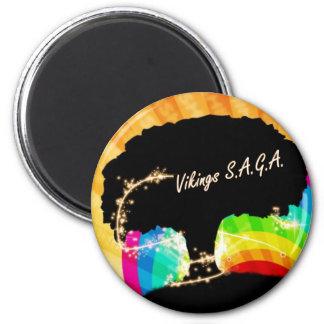 Vikings SAGA 6 Cm Round Magnet