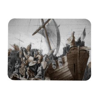 Vikings Storming a Longboat Flexible Magnets